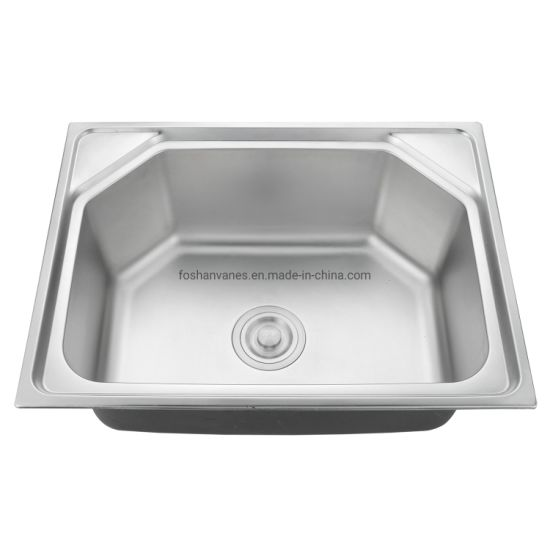Indian Hot Sale Model #201/304 Stainless Steel Kitchen Sink Ls-6045b pictures & photos