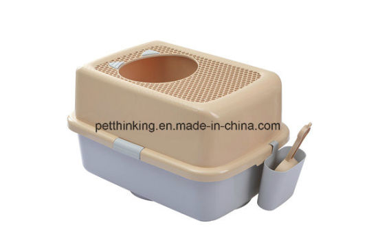 China New Pet Toilet Top Entry Cat Litter Box Cat Pet Products