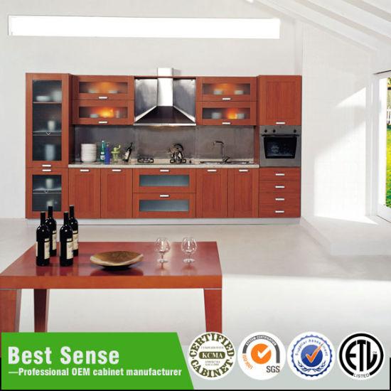 China Melamine Frameless Kitchen Cabinets - China Modular ...
