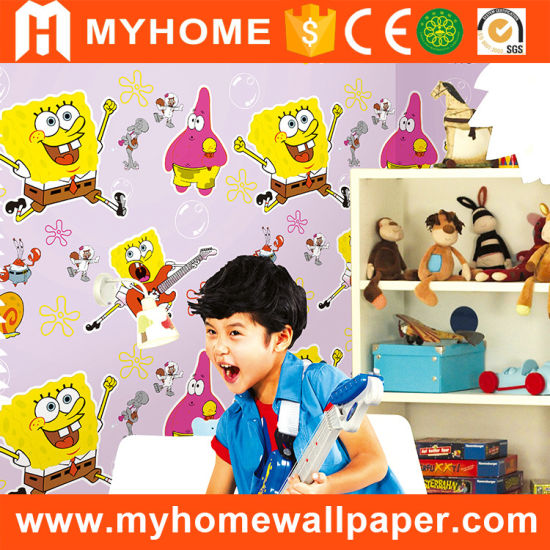 Washable Kids Bedroom PVC Wallpaper Guangzhou pictures & photos