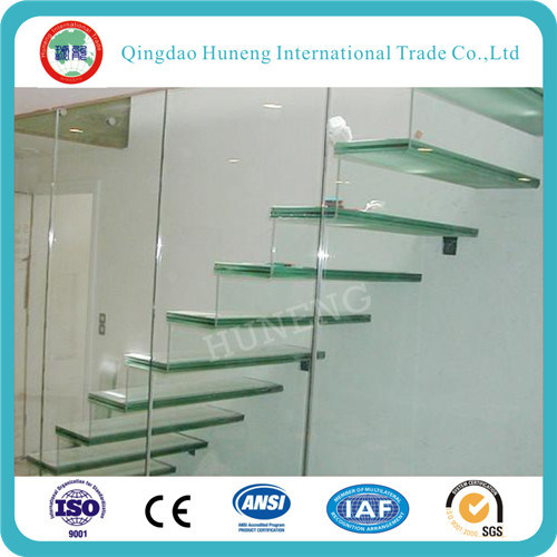 Laminated Tempered Glass/Layer Glass with PVB Film on Hot Sale pictures & photos
