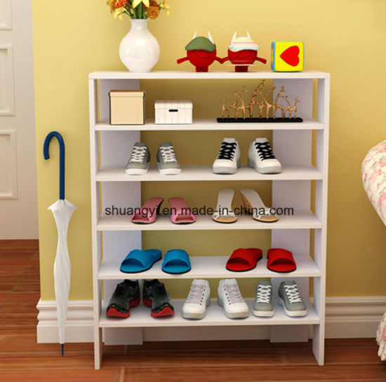 China 4 5 6 7 Layers Room Corner Wall Mounted Wooden Shoes Rack