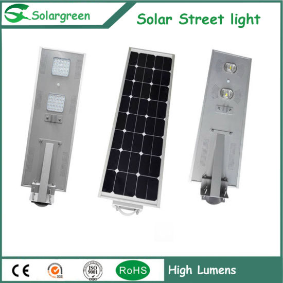 6w 120w Street Led Light With Solar Panel Solargreen Low Cost