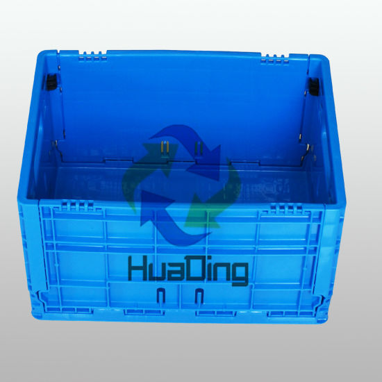 Wholesale Industrial Stackable Plastic Turnover Storage Folding Box with Lids