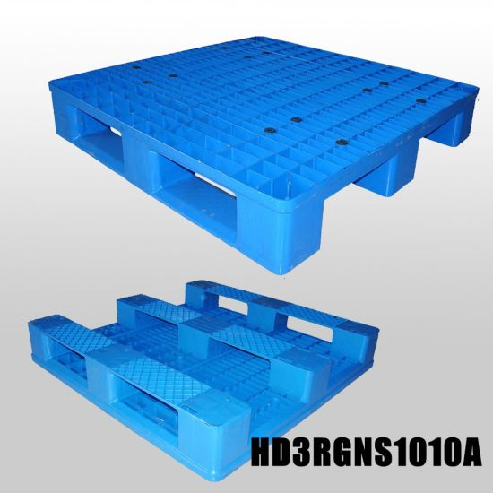 Customized Rackable Perforated Plastic Pallets with Mesh Grid pictures & photos