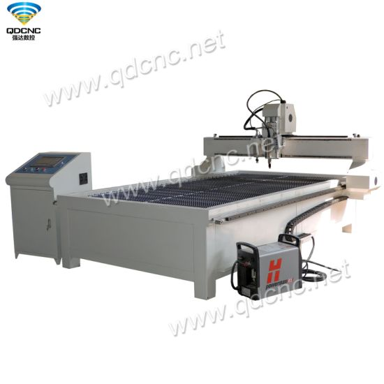 1325 CNC Plasma Cutting Machine Use Taiwan Hiwin Square Rail Guide for Metal Qd-1325PC