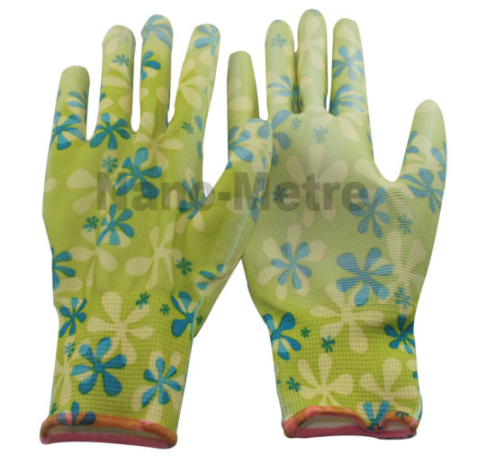 Nmsafety Pinted Liner PU Coated Work Glove