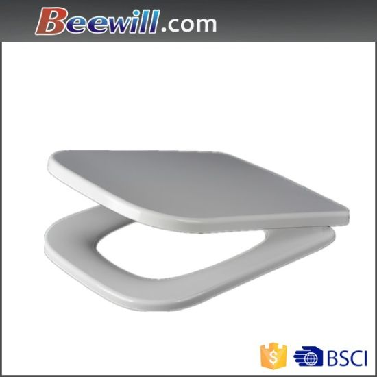 square shaped toilet seat. Square Shape Soft Close and Quick Release Toilet Seat China