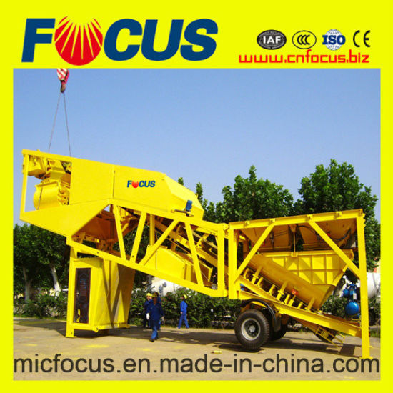 Hot Sale! Focus Yhzs75 Mobile/Portable Concrete Batching Plant