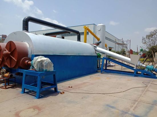 Unmanned Guard Continuous Mixed Waste Plastic to Diesel/Gasoline Recycling Pyrolysis Plant