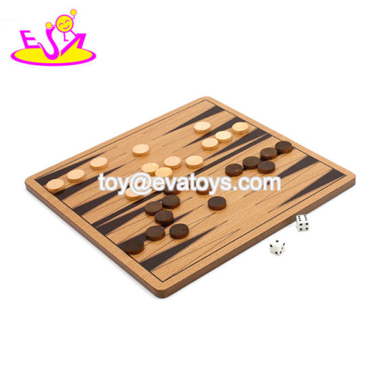Top Fashion Classical Wooden Backgammon Game Set for Children W11A101