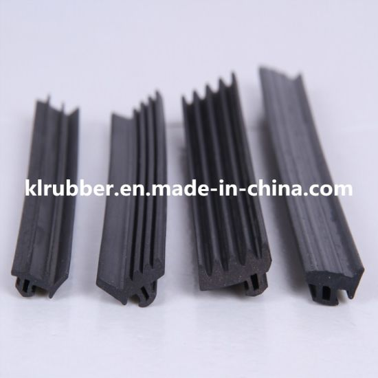 Metal strip with rubber seal