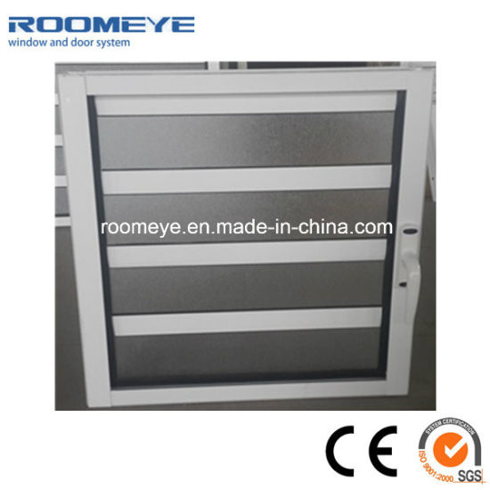 Factory Price Customized Aluminum/Aluminium Shutter Louver Jalousie Windows with Clear Glass/Frosted Glass/Single Tempered Glass/Top Hardware
