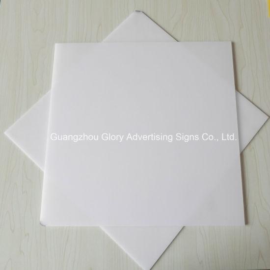 Plastic Acrylic LED Light PMMA Milky White Diffuser Sheet