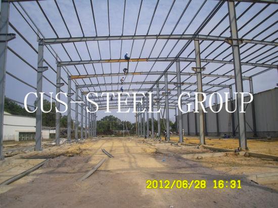 China Long Span Prefabricated Warehouse Mozambique Prefab