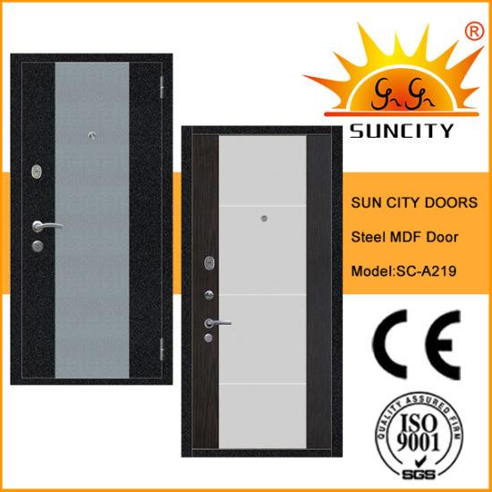 2018 New MDF Inside Steel Wooden Door for Entrance (SC-A219)