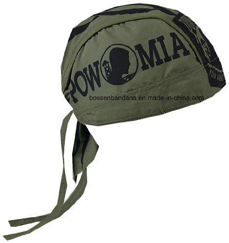 OEM Produce Customized Logo Printed Cotton Skull Biker Cap Bandana Headwrap