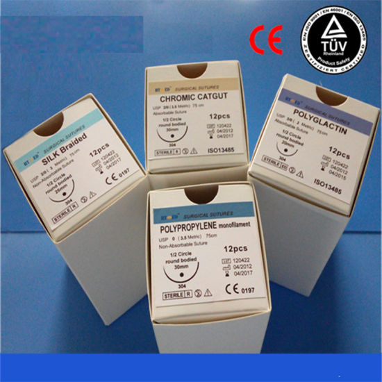 Disposale Surgical Suture with Needle/Surgical Suture/Suture PGA pictures & photos