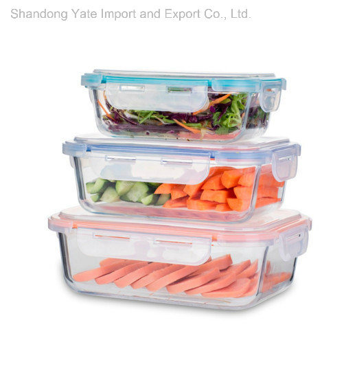 Food Grade 3PCS Square Shape Airtight Storage Container pictures & photos