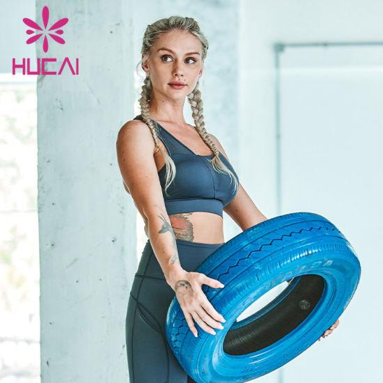 Wholesale Custom Plain Black Fitness Gym Yoga Wear Women's Sports Bra