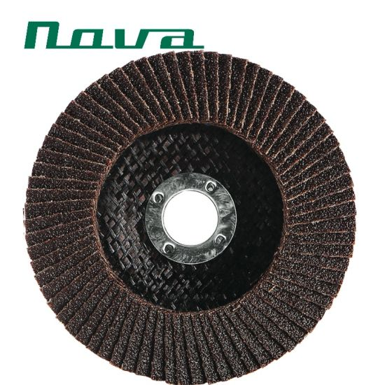 Fiber Glass Cover Polishing Grinding Cutting Calcination Oxide Flap Abrasive Wheel Discs