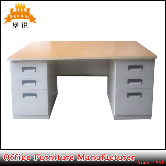 Jas 047 Steel Office Desk With Locking Drawers