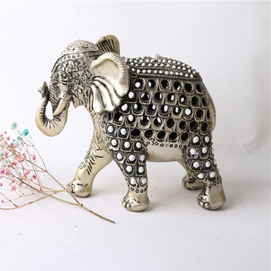 2020 Wholesale Tabletop Resin Big Elephant Statue Decoration Home Decoration