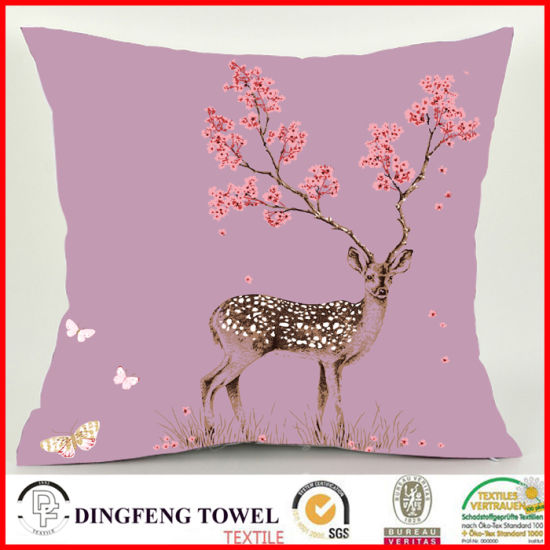 2016 New Design Luxury Printed Cushion Cover Df-C089