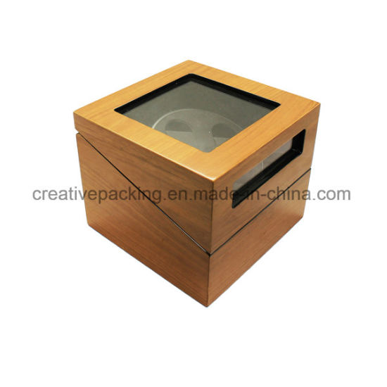 High-Gloss Wooden Watch Winder Box with Cherry Grainy Paper pictures & photos
