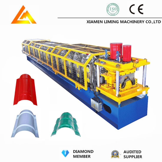 Roll Forming Making Machine for Ridge Cap Profile with Top-Rib