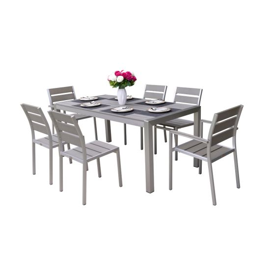 Hotel/Home Modern Table and Chair Aluminum Leisure Dining Set Outdoor Garden Restaurant Furniture
