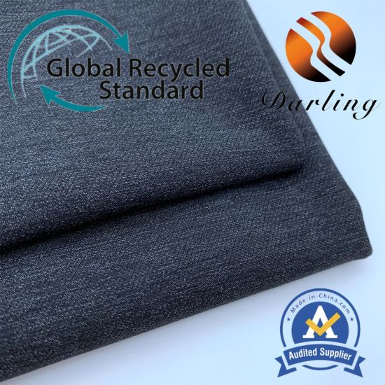 70d Polyamide-Polyester Sydney Spinning Double-Layer Four-Side Spandex Textile RPET Recycle Fabric for Men's Clothing