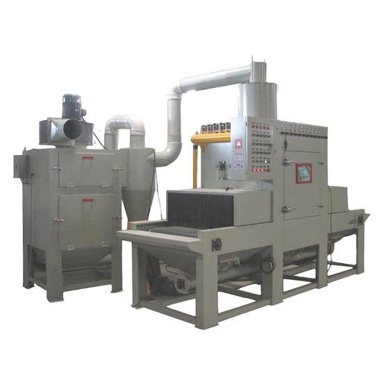 Environment Friendly Automatic Continouse Belt Sandblasting Machine Wheel Sandblaster