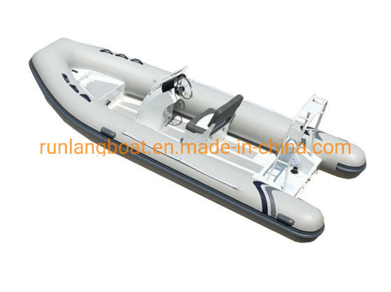 China Aluminum Rigid Inflatable Boat 5.2m Aluminum Rib Boat with PVC or Hypalon Tube