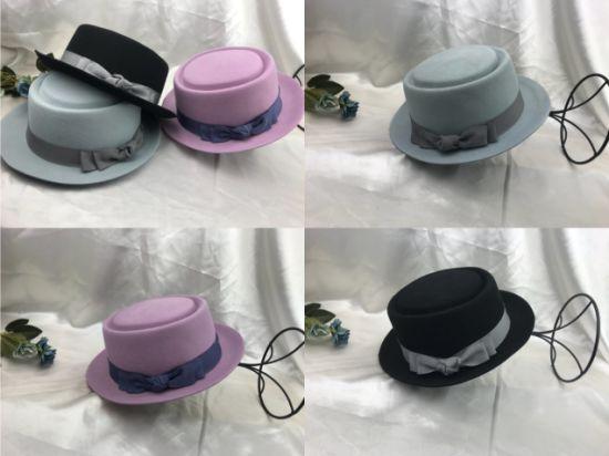Classical High Quality Wool Felt Fedora Porkpie Hat for Women and Man