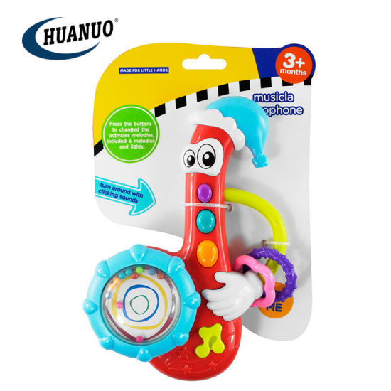 Baby New Plastic Toy Saxophone Music Hand Rattle Toy pictures & photos