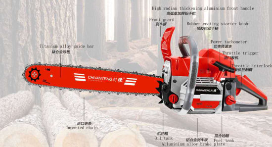 Powerful Gasoline Chain Saw CT9800 with High Quality Whole Sale