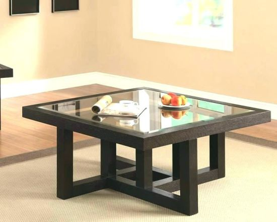 Glass Table Top Melamine Board Coffee Table pictures & photos
