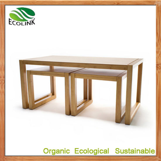 Premium Bamboo Furniture Premium Nesting Coffee Table pictures & photos