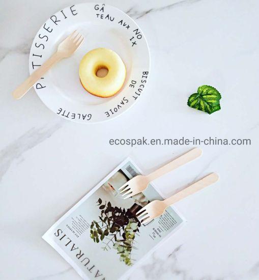 160mm Biodegradable Disposable Wooden Cutlery Compostable Flatware Kitchen Utensils Tableware Fork