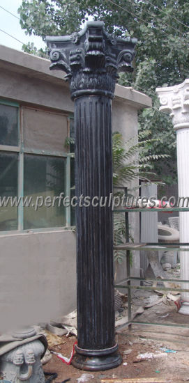 Stone Marble Granite Sandstone Roman Column Pillar for Construction (QCM004A) pictures & photos
