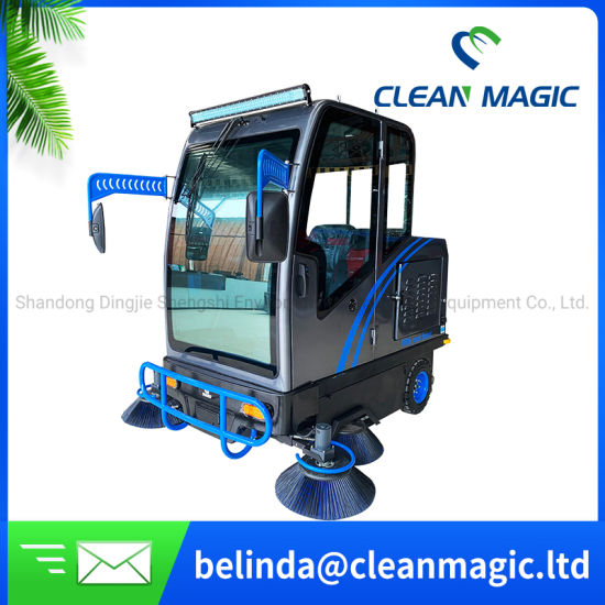 Clean Magic DJ2000A Floor Renewing Sweeper Ride on Street Cleaning Industrial