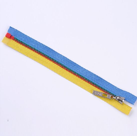 No. 5 Plastic Multi-Color Tape &Teeth Zipper Open End