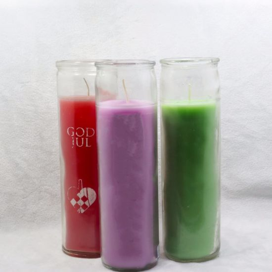 Wholesale Scented Wax Candle in Clear Glass Jar pictures & photos