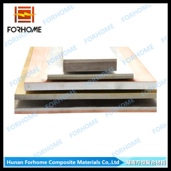 China Titanium Clad Stainless Steel Two Metal Plate With Explosion Welding China Titanium Plate Clad Metal Plate
