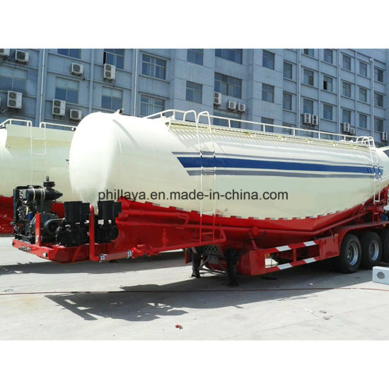 Transport Flour Tri-Axle Bulk Tank Trailer pictures & photos