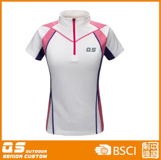 Women's Half Zipper Sport Running T-Shirt