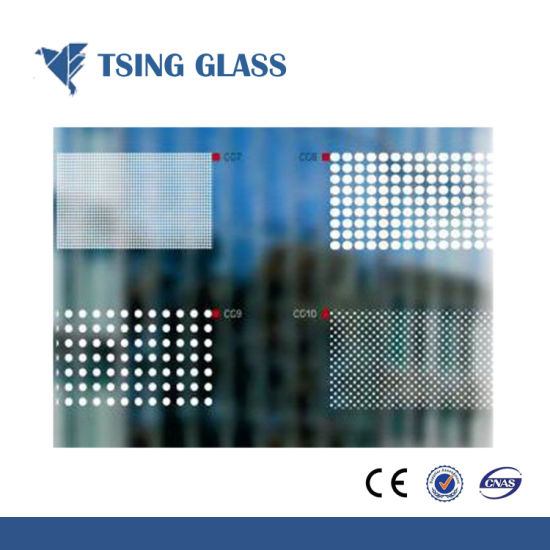 Printing Glass Silk-Screen Printing Glass with Logo / Desings for Furnityre/Door/Shower Room pictures & photos
