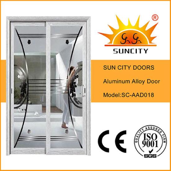 White Powder Color Aluminium Sliding Door Pictures (SC-AAD018)