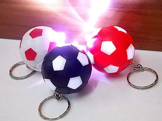 New Style LED Football Keychain pictures & photos